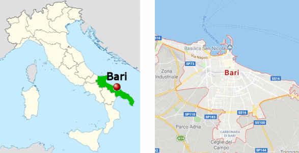bari italien landkarte Bari