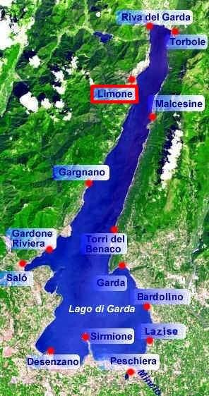 karte gardasee westufer Limone am Gardasee   Fotos und Infos
