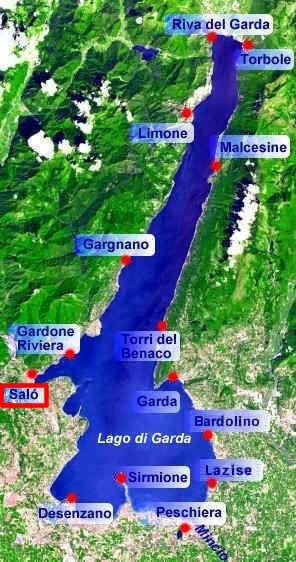 karte salo gardasee Saló am Gardasee   Fotos und Infos