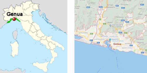 genua landkarte italien Genua   touristische Informationen, Sehenswürdigkeiten.