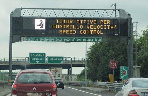 Geschwindigkeit Italien Autobahn
