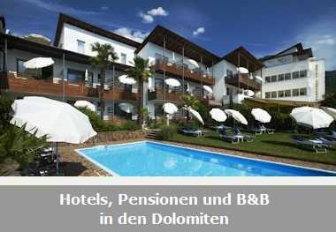 Hotels, Pensionen und B&B in den Dolomiten