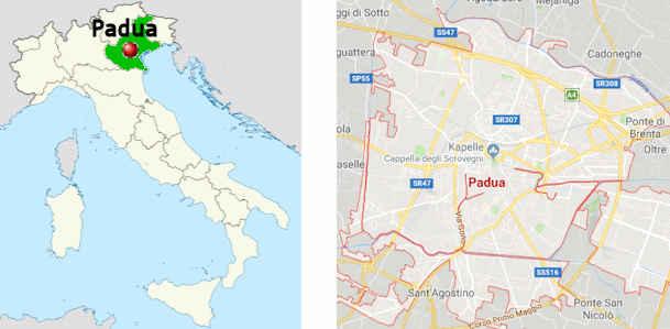 Karte Italien Regionen.Padua Touristische Informationen Sehenswürdigkeiten