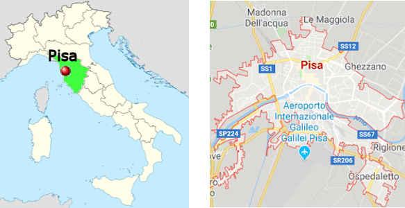 italien pisa karte Pisa   Fotos und Infos