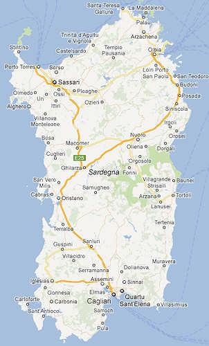 Karte Sardinien Süden.Top 10 Punto Medio Noticias Sardinien Landkarte Flughafen