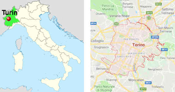 turin italien karte Turin: die ex Hauptstadt Italiens