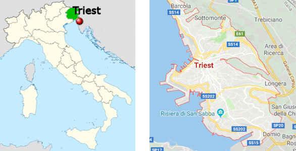 italien karte triest Triest   touristische Informationen.